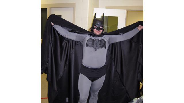 Mark Williams dressed as Batman, at the Emmet County jail in Petoskey, Mich. .jpg_10798985.jpg