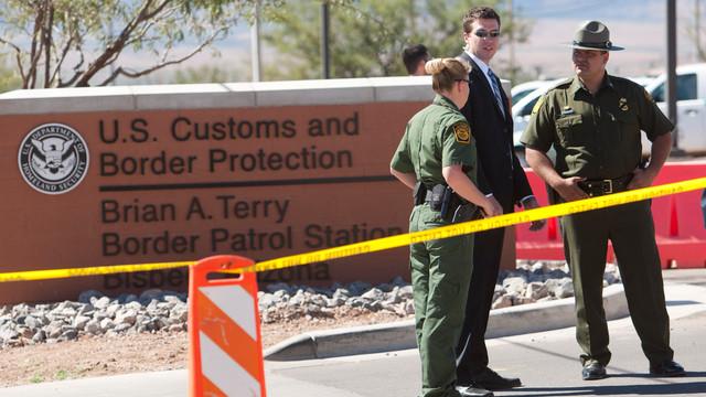Border Patrol Agents and Secretary of Homeland Security Janet Napolitano's security detail.jpg_10809495.jpg