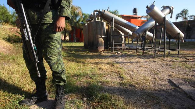 a soldier stands in what was identified as metal reactors .jpg_10813524.jpg