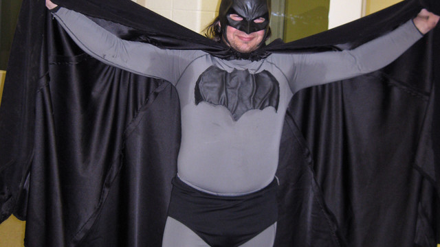 Mark Williams dressed as Batman, at the Emmet County jail in Petoskey, Mich. .jpg_10798985.jpg
