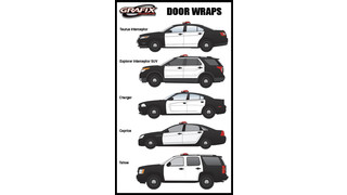 White Vinyl Door Wraps for All Vehicle Models