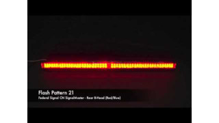 Federal Signal CN SignalMaster 8-Head Rear Flash Patterns (Red/Blue/Amber)