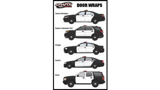 White Vinyl Door Wraps for All Vehicle Models
