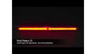 Federal Signal CN SignalMaster 8-Head Rear Flash Patterns (Red/Blue/Amber)