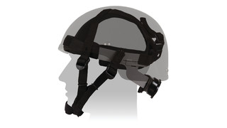 Ratchet Retention Suspension (R2S) System Ballistic Helmets