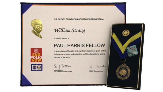 TSSi CEO Bill Strang Receives 'Paul Harris Fellow' Award
