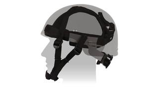 Ratchet Retention Suspension (R2S) System Ballistic Helmets