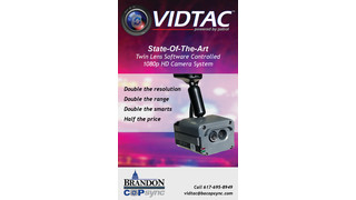 VIDTAC Twin Lens, Software Controlled 1080p HD Camera System