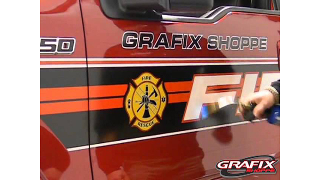 3M Reflective Fire or Police Vehicle Install 4, Removal of Reflective Fire or Poilce graphics