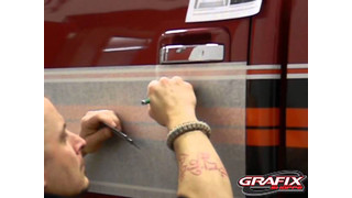 3M Reflective Fire or Police Vehicle Install 2, triming door handles and gas tanks