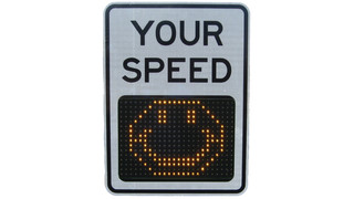 9 inch Radar Driver Feedback (DFB) Sign with Slow Down Message