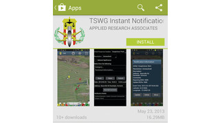 TSWG IED Instant Notification App (INS) Bomb Squad App