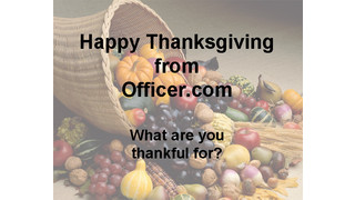 A Cop's Thanksgiving