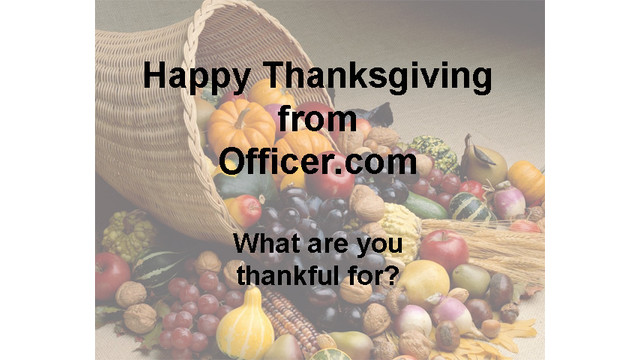 A Cop's Thanksgiving