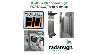 TC-400 Portable Radar Speed Sign