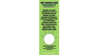 Marijuana ID Training Card