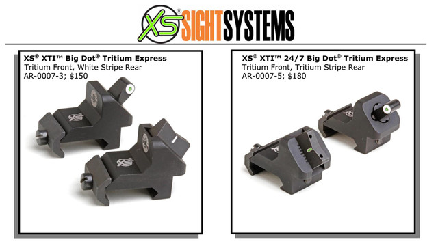 AR-15/M-16 XS Upgrade: Big Dot Xpress Threat Interdiction Sights