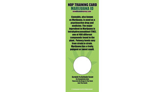 Marijuana ID Training Card