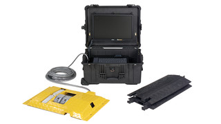 LowCam VI110 Portable Under Vehicle Inspection System (UVIS) with License Plate Recognition (LPR)