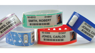 Clincher Extra Wide Inmate ID Wristband Line