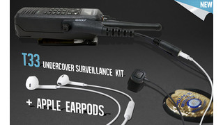 T33 Undercover Surveillance Kit (with Apple® EarPods)