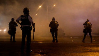 Tear Gas Used to Impose Curfew in Ferguson
