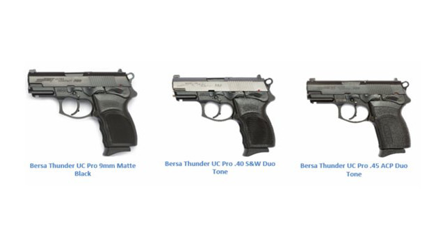 The Bersa Thunder Ultra Compact Pro Pistol: Developed for Those who Need Stopping Power without the Bulk